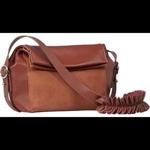 All Saints Maya Leather Suede Handbag